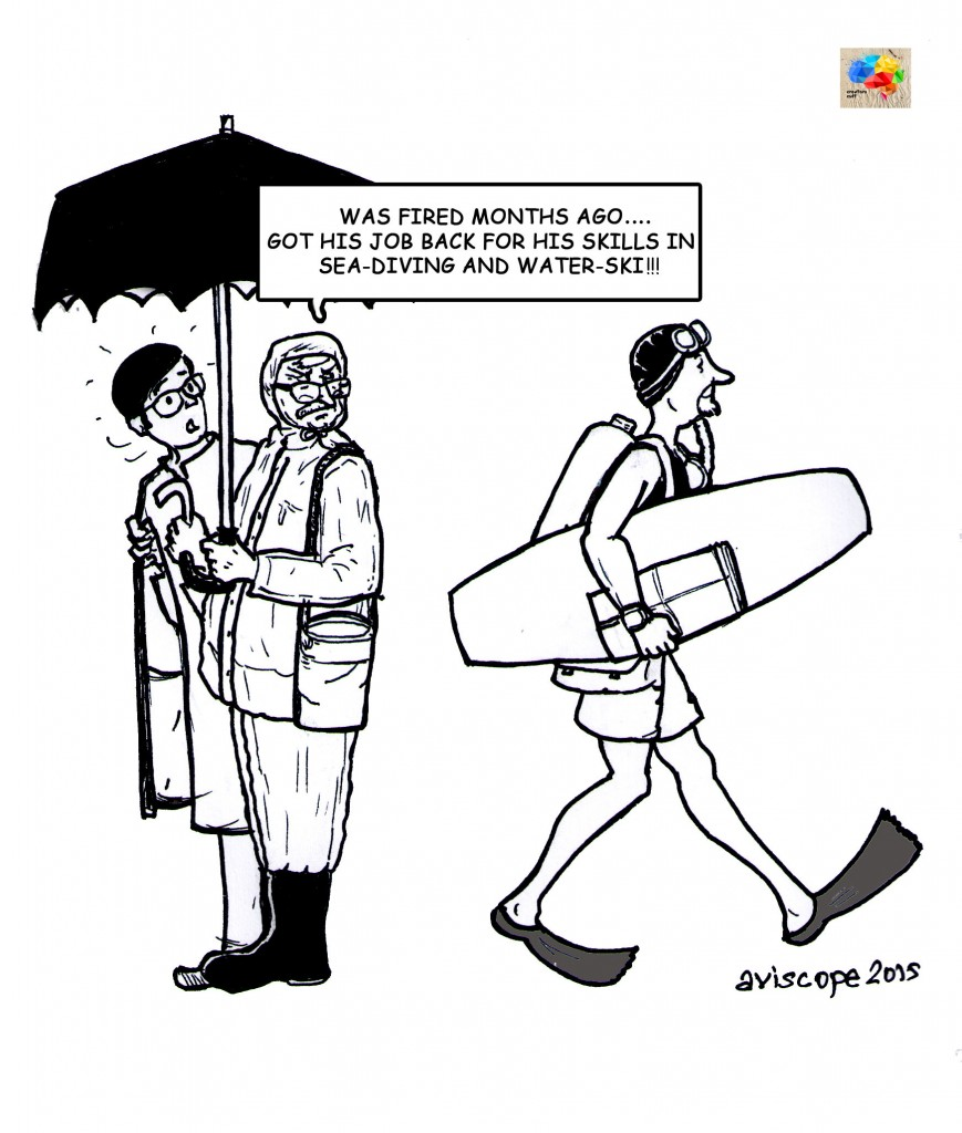 Cartoon on Chennai Flood