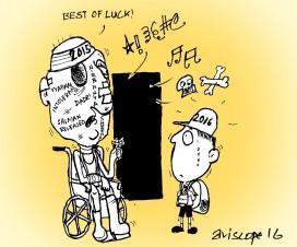 Cartoon on NEW YEAR 2016