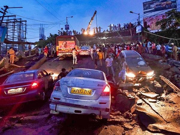kolkata magherhat bridge collapsed latest image