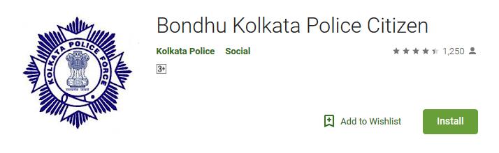 bondhu-app-kolkata-police